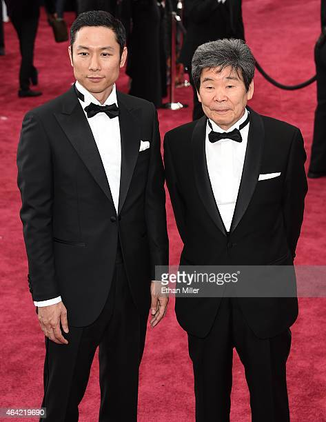 Producer Yoshiaki Nishimura and Writer Director Isao Takahata attend the 87th Annual Academy Awards at Hollywood & Highland Center on February 22,...