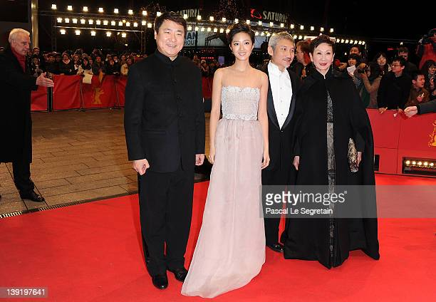 Producer Yu Dong actress Kwai Lun Mei director Hark Tsui and producer Shi Nansun attend the Flying Swords Of Dragon Gate Premiere during day nine of...