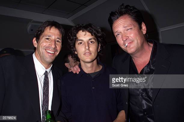 Producer Zachary Matz director Josh Evans and Michael Madsen during the party for the premiere of The Price of Air at Spa in New York on 9/27/00...