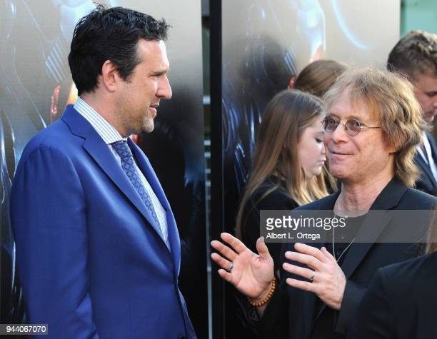 Producer Zack Estrin and actor Bill Mumy arrive for the Premiere Of Netflix's 'Lost In Space' Season 1 held at The Cinerama Dome on April 9 2018 in...