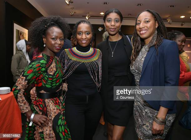 Producer Zainab Jah director Ekwa Msangi director Abbesi Akhamie and director Iquo B Essien attend the opening night of the 25th African Film...