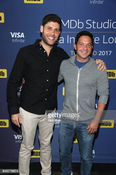 Producera Michael H Weber and Scott Neustadter of 'The Disaster Artist' attends The IMDb Studio Hosted By The Visa Infinite Lounge at The 2017...