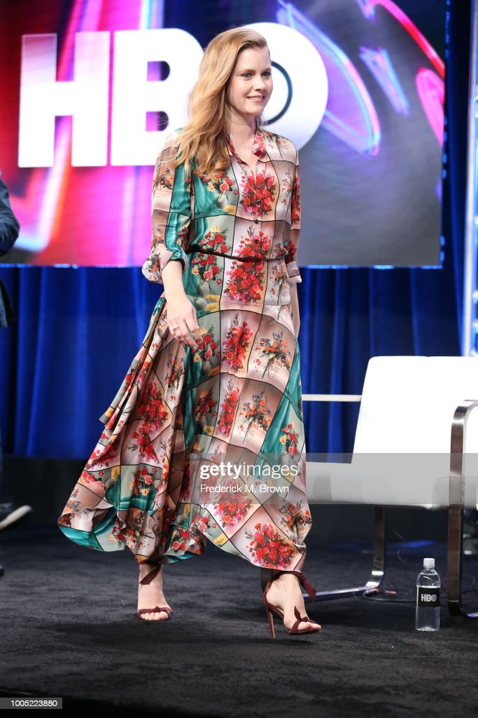 Producer/actor Amy Adams of 'Sharp Objects' speaks onstage during the HBO portion of the Summer 2018 TCA Press Tour at The Beverly Hilton Hotelon July 25, 2018 in Beverly Hills, California.