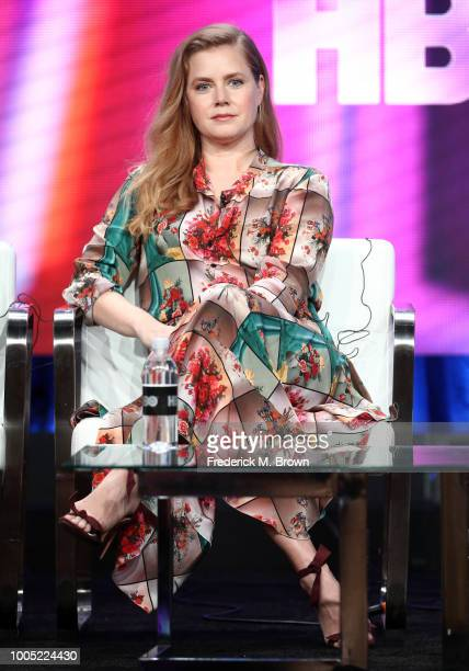 Producer/actor Amy Adams of 'Sharp Objects' speaks onstage during the HBO portion of the Summer 2018 TCA Press Tour at The Beverly Hilton Hotelon...
