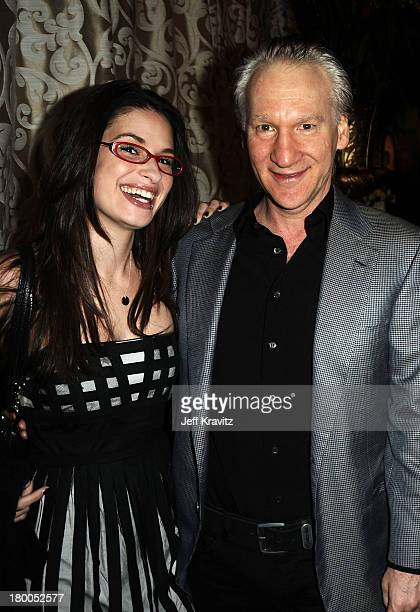Producer/actor Bill Maher and Cara Santa Maria arrive to the HBO premiere of The Special Relationship held at Directors Guild Of America on May 19...
