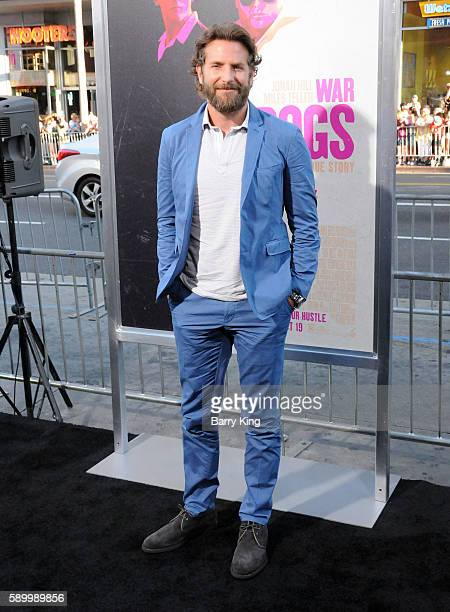 Producer/actor Bradley Cooper attends the premiere of Warner Bros Pictures' 'War Dogs' at TCL Chinese Theatre on August 15 2016 in Hollywood...
