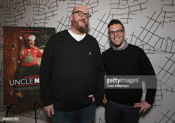Producer/Actor Brian Posehn and Director Chris Kasick attend a special screening of Dark Sky Films' Uncle Nick at UTA on December 1 2015 in Beverly...