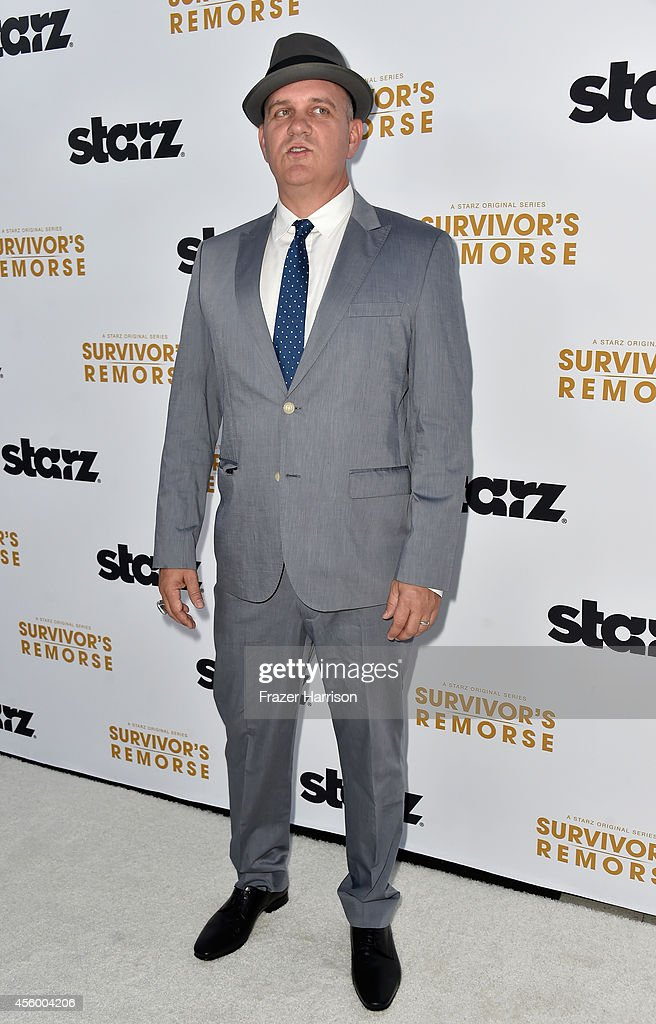 Producer/actor Mike O'Malley arrives at the Premiere Of Starz 'Survivor's Remorse' at Wallis Annenberg Center for the Performing Arts on September 23, 2014 in Beverly Hills, California.