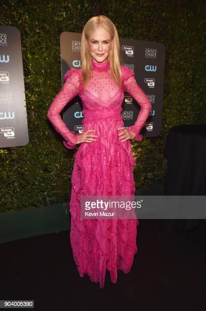 Produceractor Nicole Kidman attends The 23rd Annual Critics' Choice Awards at Barker Hangar on January 11 2018 in Santa Monica California