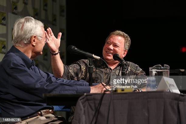 Producer/actor Roger Corman and actor William Shatner attend Two Legends On One Stage Roger Corman And William Shatner presented by EPIX during...