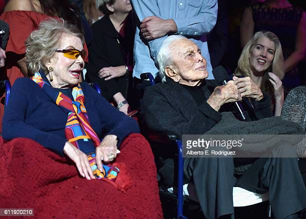 Producer/actress Anne Douglas and actor Kirk Douglas attend the MPTF 95th anniversary celebration with Hollywood's Night Under The Stars at MPTF...