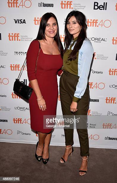 Producer/actress Gisella Marengo and actress Gabriella Wright attends the 'Septembers of Shiraz' premiere during the 2015 Toronto International Film...