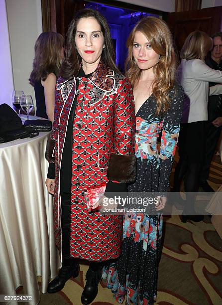 Producer/actress Jami Gertz and actress Genevieve Angelson attend Equality Now's third annual Make Equality Reality gala on December 5 2016 in...