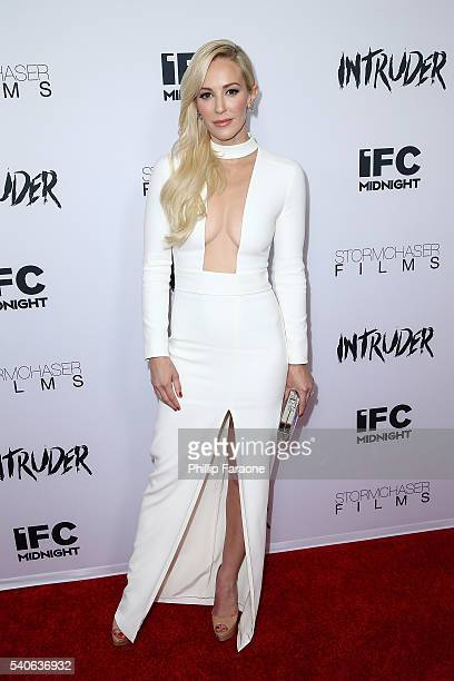 "Producer/actress Louise Linton attends the premiere of IFC Midnight's ""Intruder"" at Regency Bruin Theater on June 15, 2016 in Westwood, California."