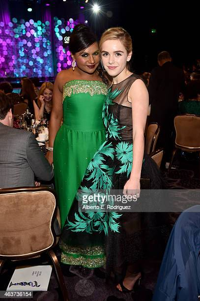 Producer/actress Mindy Kaling and actress Kiernan Shipka attend the 17th Costume Designers Guild Awards with presenting sponsor Lacoste at The...