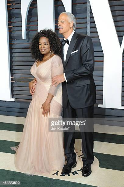 Producer/actress Oprah Winfrey and businessman Stedman Graham attend the 2015 Vanity Fair Oscar Party hosted by Graydon Carter at Wallis Annenberg...