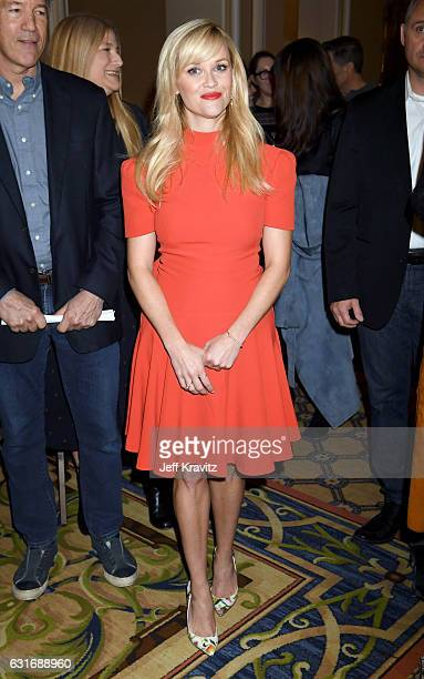 Producer/actress Reese Witherspoon of the limited series 'Big Little Lies' speaks onstage during the HBO portion of the 2017 Winter Television...