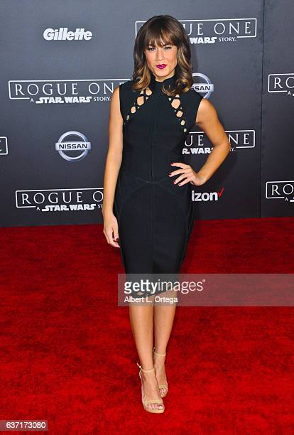 Producer/actress Rosanna Pansino arrives for the Premiere Of Walt Disney Pictures And Lucasfilm's 'Rogue One A Star Wars Story' held at the Pantages...