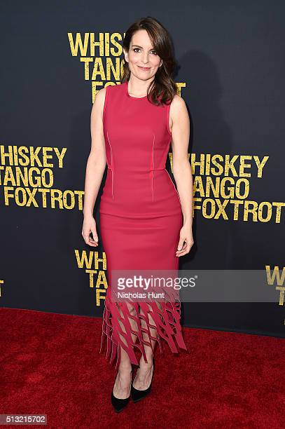 Producer/Actress Tina Fey attends the 'Whiskey Tango Foxtrot' world premiere at AMC Loews Lincoln Square 13 theater on March 1 2016 in New York City