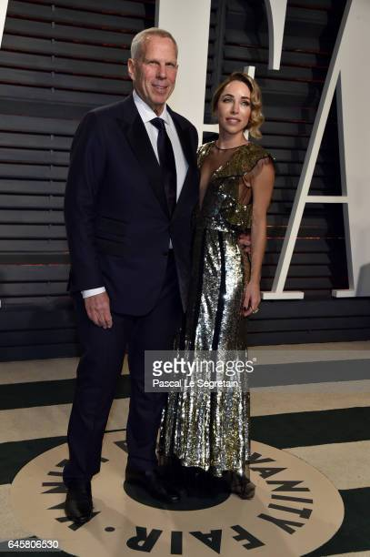 Producerbusinessman Steve Tisch and Katia Francesconi attend the 2017 Vanity Fair Oscar Party hosted by Graydon Carter at Wallis Annenberg Center for...