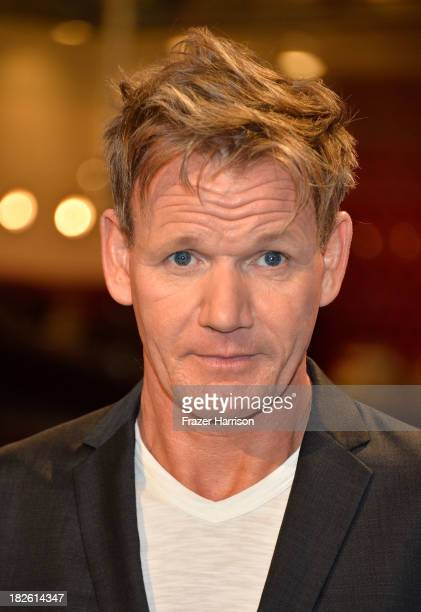 Producer/Chef Gordon Ramsay attends Fox's 'Hell's Kitchen' 200th Episode Celebration at the Hell's Kitchen studio on October 1 2013 in Culver City...