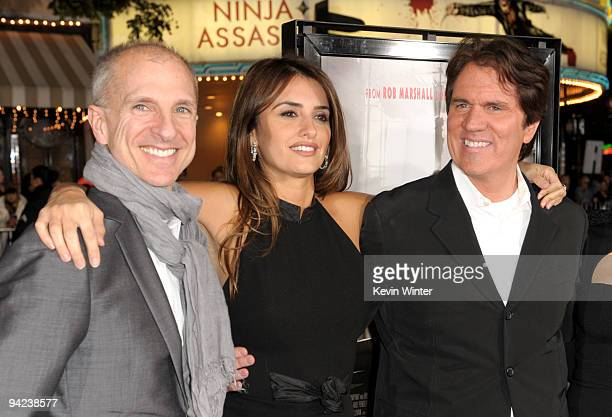 Producer/choreographer John Deluca, actress Penelope Cruz and director Rob Marshall arrive at the Los Angeles premiere of the Weinstein Company's...