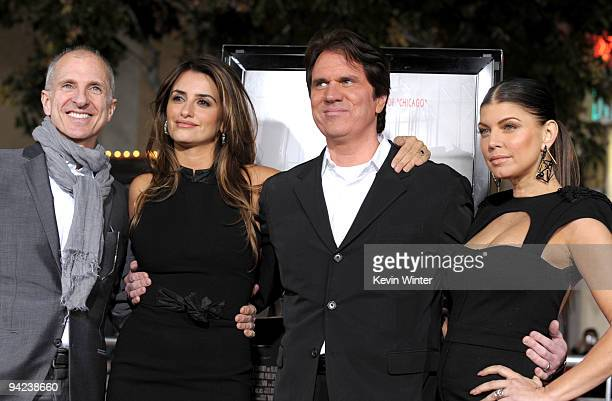 """Producer/choreographer John Deluca, actress Penelope Cruz, director Rob Marshall and actress Stacy """"Fergie"""" Ferguson arrive at the Los Angeles..."""