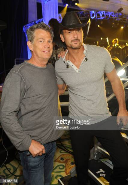 Producer/composer David Foster and recording artist Tim McGraw at the 14th annual Andre Agassi Foundation for Education's Grand Slam for Children...