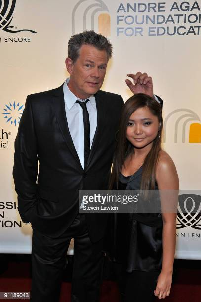 Producer/composer David Foster and singer Charice Pempengco arrive at the 14th annual Andre Agassi Charitable Foundation's Grand Slam for Children...