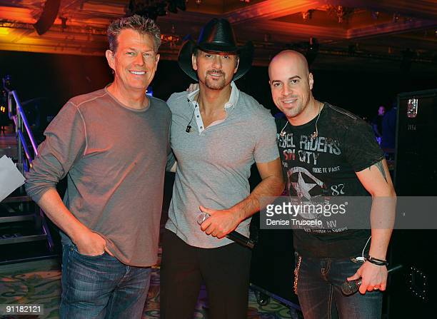 Producer/composer David Foster, recording artist Tim McGraw and singer/guitarist Chris Daughtry at the 14th annual Andre Agassi Foundation for...