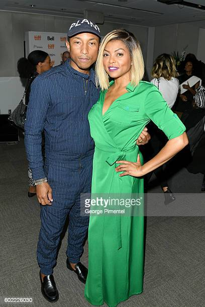 Producer/composer Pharrell Williams and actress Taraji P Henson attend the Hidden Figures premiere during the 2016 Toronto International Film...