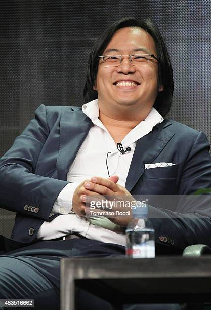 Producer/Creator/Writer Freddie Wong speaks onstage during the panel for RocketJump The Show at the Hulu 2015 Summer TCA Presentation at The Beverly...