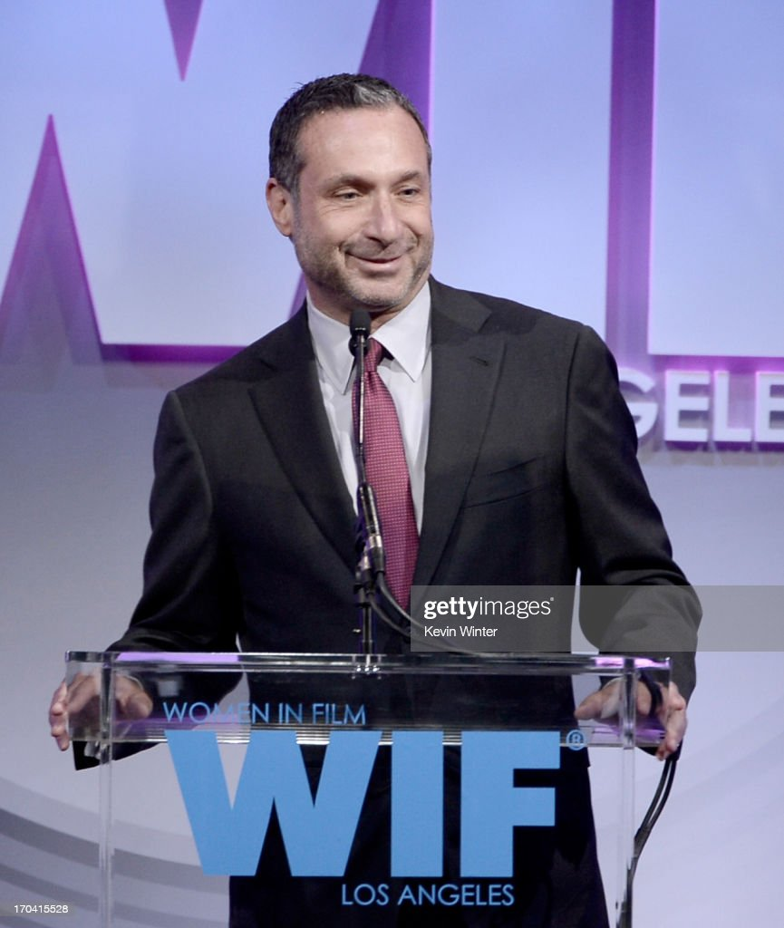 Producer/director Alan Poul speaks onstage during Women In Film's 2013 Crystal + Lucy Awards at The Beverly Hilton Hotel on June 12, 2013 in Beverly Hills, California.
