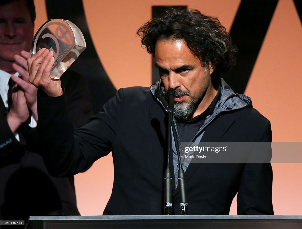 Producer/director Alejandro Gonzalez Inarritu accepts the Outstanding Producer of Theatrical Motion Pictures award for 'Birdman' onstage during the 26th Annual Producers Guild Of America Awards at the Hyatt Regency Century Plaza on January 24, 2015 in Los Angeles, California.