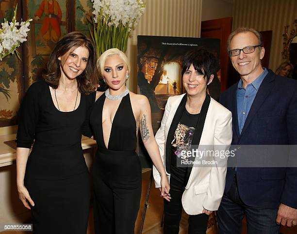 Producer/director Amy Ziering, Lady Gaga, music producer/writer Diane Warren and director/writer Kirby Dick attend the screening and reception at the...