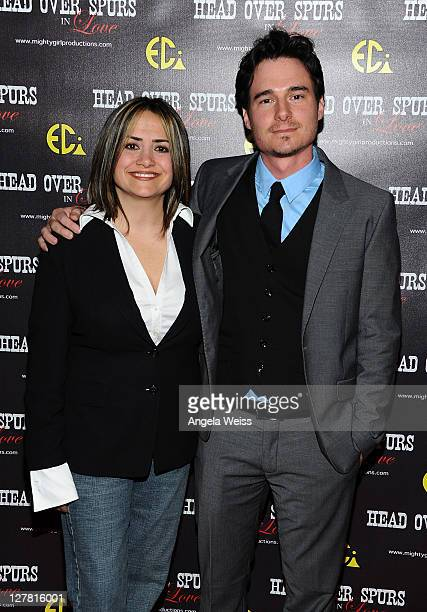 Producer/director Ana Zins and actor Daniel Bonjour arrive at the world premiere of 'Head Over Spurs In Love' at Majestic Crest Theatre on March 24,...