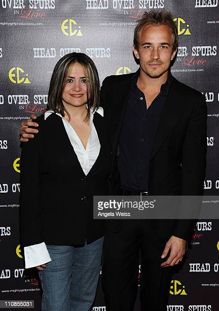 Producer/director Ana Zins and actor Jesse Johnson arrive at the world premiere of 'Head Over Spurs In Love' at Majestic Crest Theatre on March 24,...