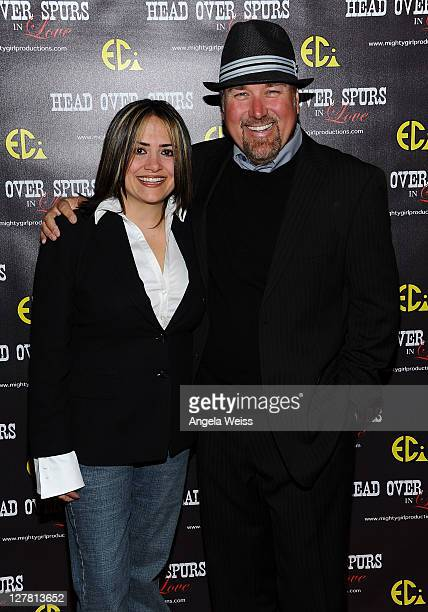 Producer/director Ana Zins and actor Richard Karn arrive at the world premiere of 'Head Over Spurs In Love' at Majestic Crest Theatre on March 24,...