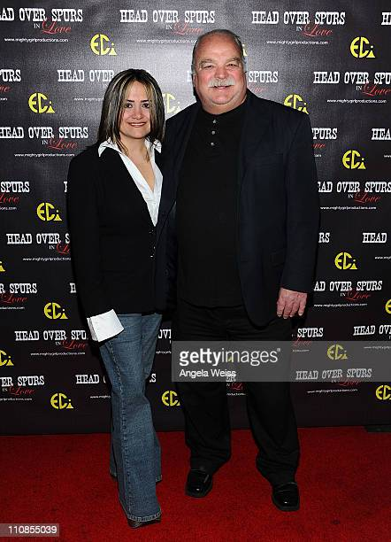 Producer/director Ana Zins and actor Richard Riehle arrive at the world premiere of 'Head Over Spurs In Love' at Majestic Crest Theatre on March 24,...