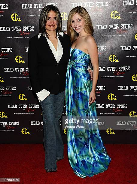 Producer/director Ana Zins and actress Jen Lilley arrive at the world premiere of 'Head Over Spurs In Love' at Majestic Crest Theatre on March 24,...