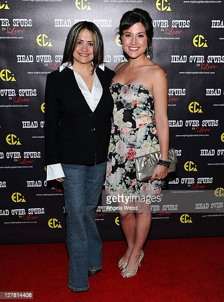 Producer/director Ana Zins and actress Leena Huff arrive at the world premiere of 'Head Over Spurs In Love' at Majestic Crest Theatre on March 24,...