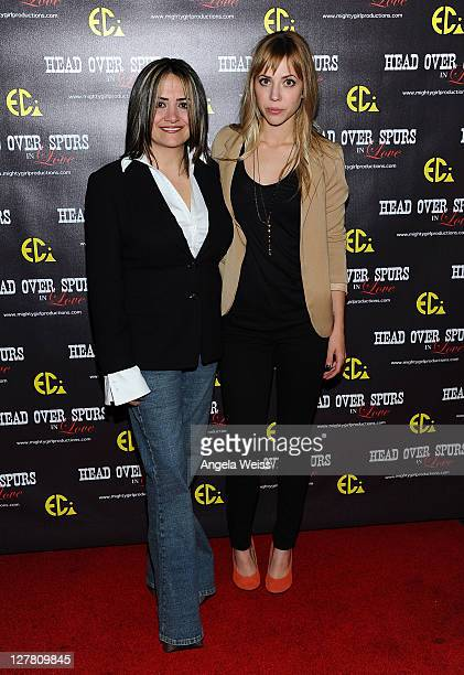 Producer/director Ana Zins and actress Natalie Distler arrive at the world premiere of 'Head Over Spurs In Love' at Majestic Crest Theatre on March...