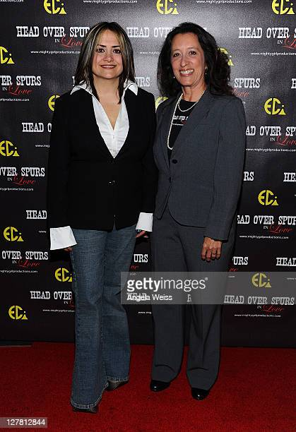 Producer/director Ana Zins and producer Colleen Saro arrive at the world premiere of 'Head Over Spurs In Love' at Majestic Crest Theatre on March 24,...