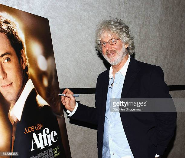Producer/Director Charles Shyer signs the movie's poster for charity at the Variety Screening Series Alfie at the ArcLight Theater on October 21 2004...