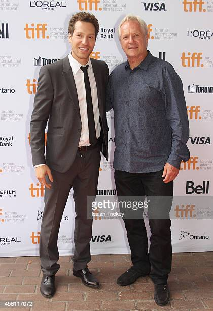 Producer/Director Gabe Polsky and Hockey Legend Darryl Sittler attends the 'Red Army' premiere during the 2014 Toronto International Film Festival at...