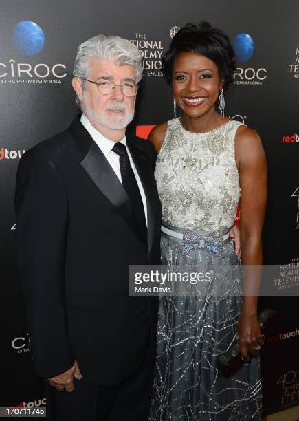 Producer/director George Lucas and Mellody Hobson attend The 40th Annual Daytime Emmy Awards at The Beverly Hilton Hotel on June 16, 2013 in Beverly...