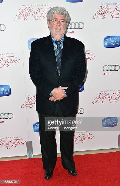 Producer/director George Lucas attends the Academy of Television Arts Sciences' 22nd Annual Hall of Fame Induction Gala at The Beverly Hilton Hotel...