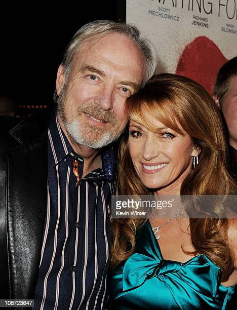Producer/director James Keach and his wife executive producer/actress Jane Seymour arrive at the premiere of Waiting for Forever at the Pacific...