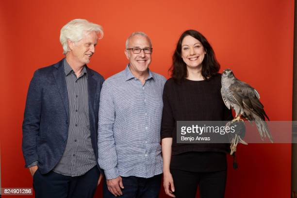 Producer/director Mike Birkhead executive producer Fred Kaufman author Helen Macdonald and Stella the goshawk of PBS's 'H is for Hawk A New Chapter'...