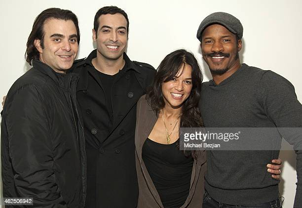 Producer/director Nicholas Jarecki producer Mohammed Al Turki actress Michelle Rodriguez and actor Nate Parker attend Saudi Producer Mohammed Al...